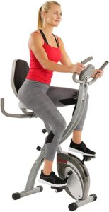 #6. Sunny Health & Fitness Comfort XL Ultra Cushioned Seat Folding Exercise Bike